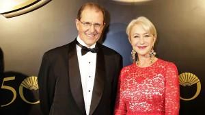 CEO do Mandarin Oriental Edouard Ettedgui e Dame Helen Mirren