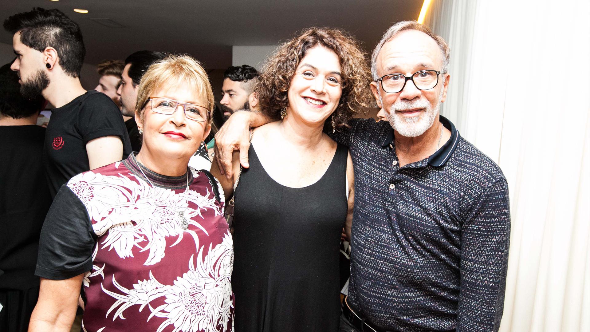 Helen Carvalho, Liana Fernandes e Renato Loreiro